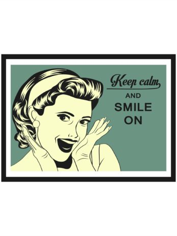 Plakat Keep calm and smile one retro