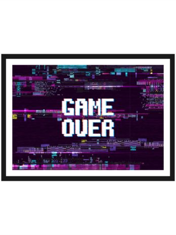 Plakat Napis Game over